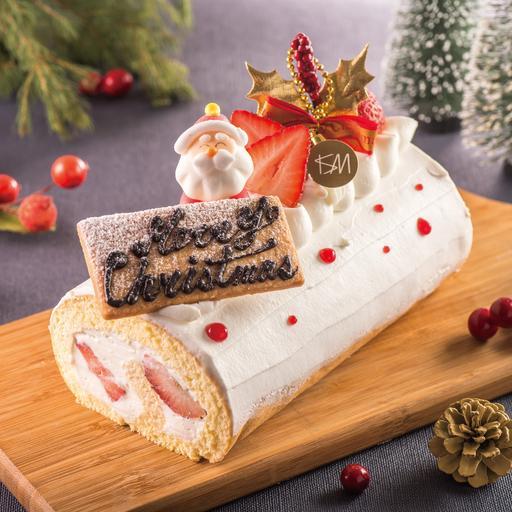草莓生乳捲 聖誕限定 Christmas Roll Cake (限自取)12/14後開始取貨