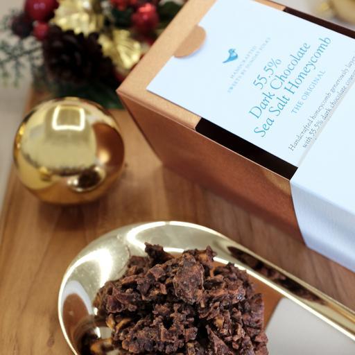 55.5% Dark Chocolate Sea Salt Honeycomb