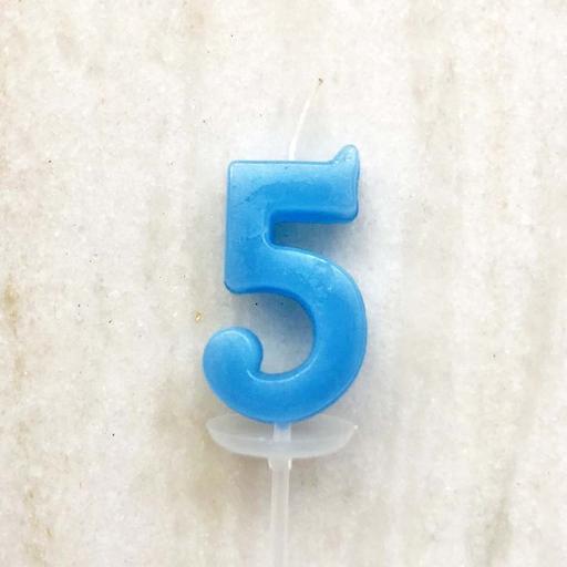 數字蠟燭 - 5 (單支)顏色以現場為主