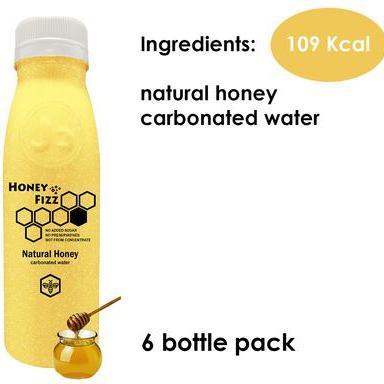 6 x Natural Honey Fizz