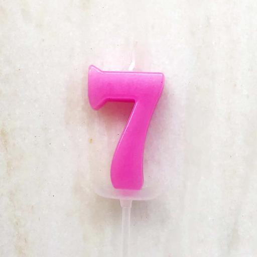 數字蠟燭 - 7 (單支)顏色以現場為主