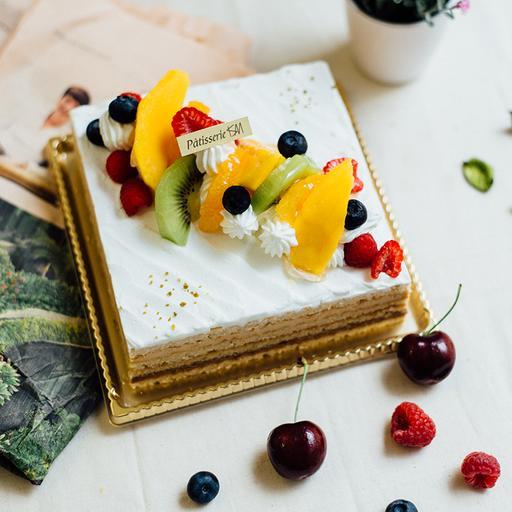 15x15cm 榛果奶油蛋糕|Marjolaine  (適合6~8人享用)