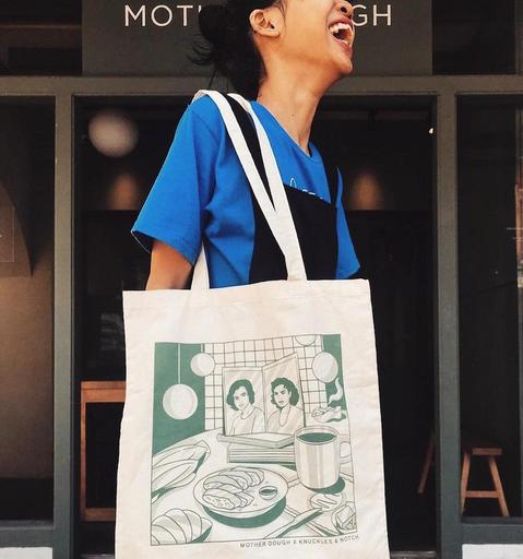 Anniversary Tote Bags by Knuckles & Notch