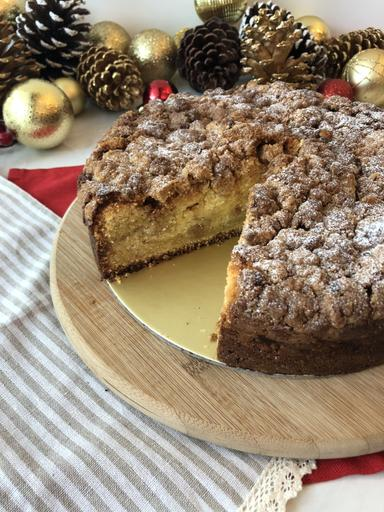 "9"" Apple Yoghurt Streusel Cake"