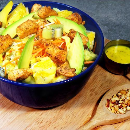 Avocado Kiwi Orange Slaw with Grilled Cajun Chicken (20-Mar)