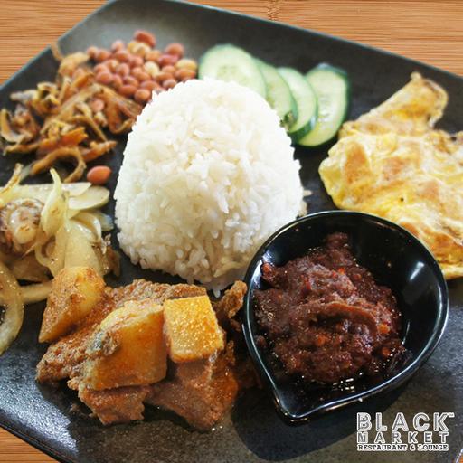 BLACK Market's Signature Wild Boar Rendang Nasi Lemak (Non Halal)