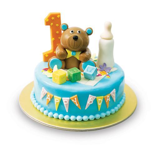 "Baby Bear Fondant Cake 8"""