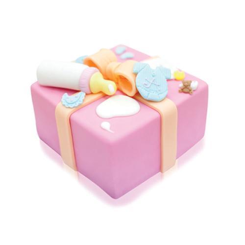 "Baby Love Fondant Cake 6"""