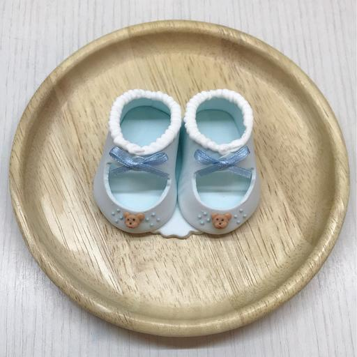 Baby Shoes Icing Sugar (Blue)