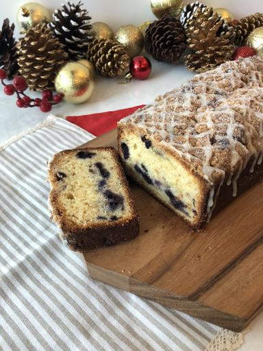 Blueberry Orange Streusel Pound Loaf Cake