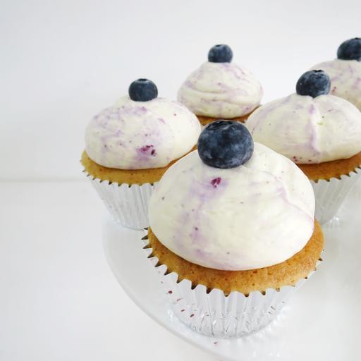 Blueberry Vanilla Cupcake (6s)