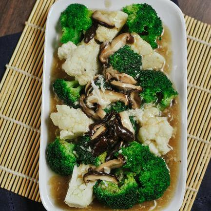 Braised Broccoli & Shiitake
