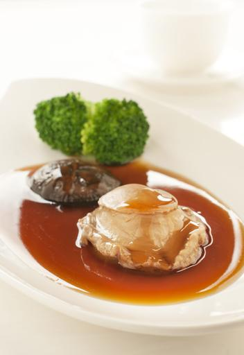 Braised Whole Abalone in Special Essence 精华酱汁焖鲍鱼