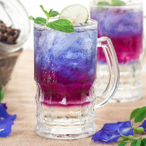 Butterfly Pea Ice Soda (Cold)