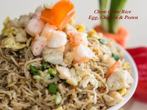 Chow Chow Rice (Mixed - Egg, Chicken & Prawn)
