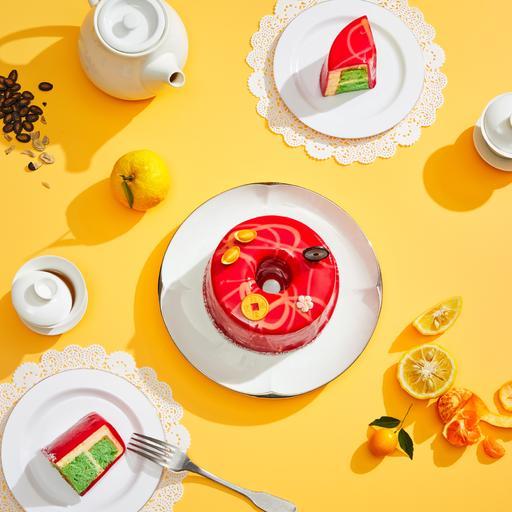 CNY Yuzu Pandan Chiffon Cake