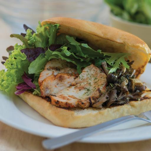 Cajun Chicken and Mushroom Sandwich
