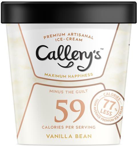 Callery's Reduced-Calorie Vanilla Bean Ice Cream Pint (473ml)