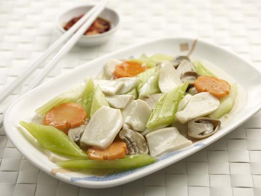Celery with Oyster Mushroom (西芹炒蚝菇)