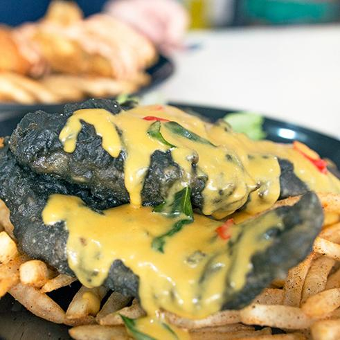 Charcoal Cod Fish & Chips