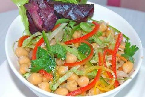 Chick Pea Salad with Orange Chilli Vinaigrette (Vegan & Gluten-free)