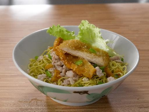 Chicken Cutlet Minced Meat Noodles