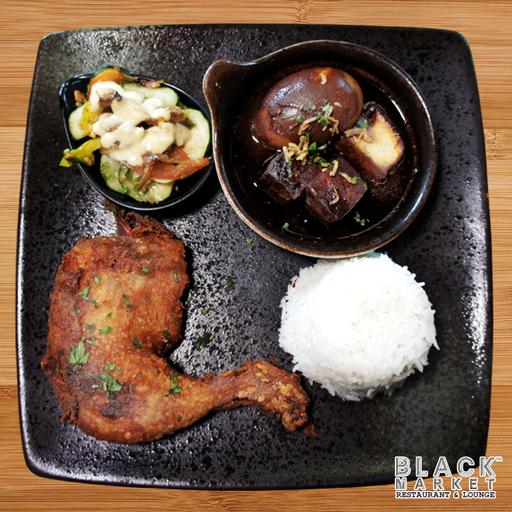 Fried Chicken Drumstick Rice (Non Halal)