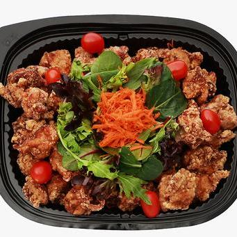 Chicken Karaage Party Plate with Salad
