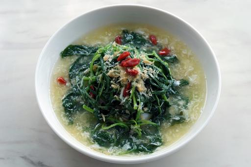 上汤苋菜 Chinese spinach with minced scallop in superior stock