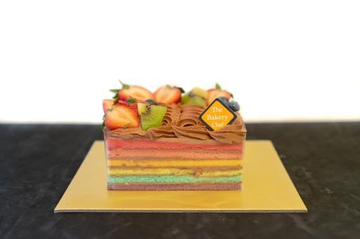 Chocolate Rainbow Cake (Square)