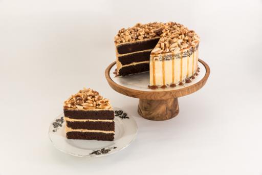 Chocolate sea salt caramel cake