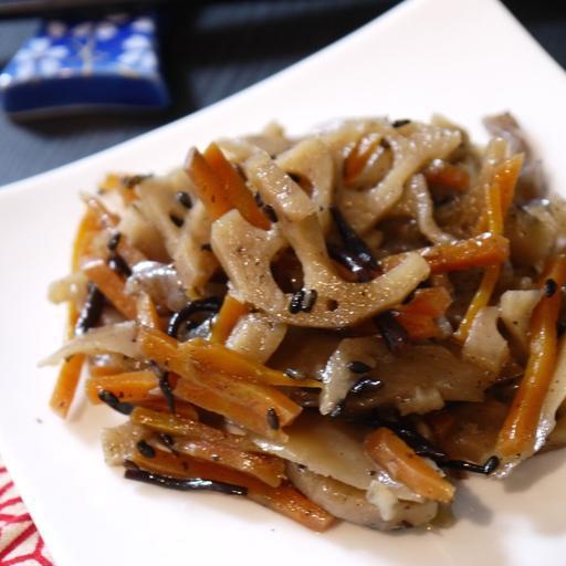 Kinpira(Lotus Root) with Black Vinegar