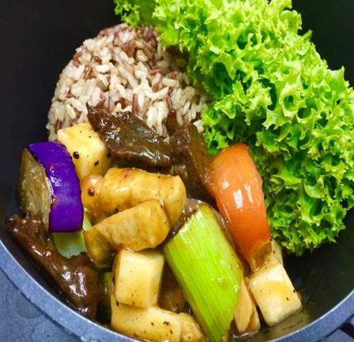 Claypot Black Pepper 'Mutton' rice