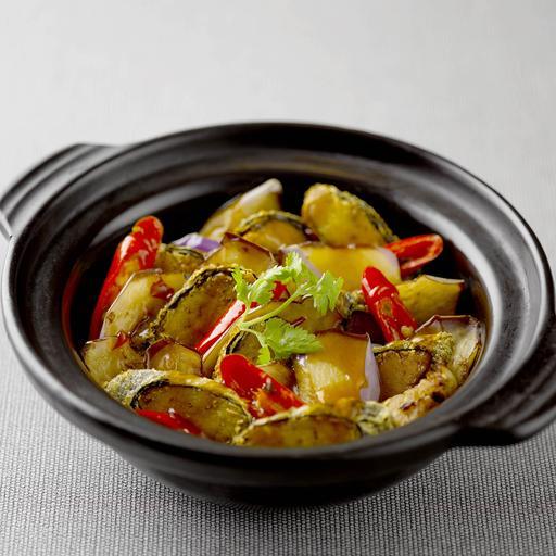 Claypot Brinjal with Salted Soya 咸鱼茄子煲