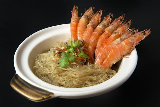 Claypot Tang Hoon Prawn (Dry) 砂煲冬粉虾(干)