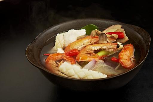 Clear Tom Yum Seafood Soup