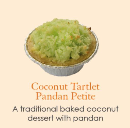 Coconut Tartlet Pandan 30pc
