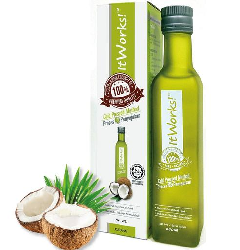Cold Pressed Extra Virgin Coconut Oil 500ml (Halal Certified)