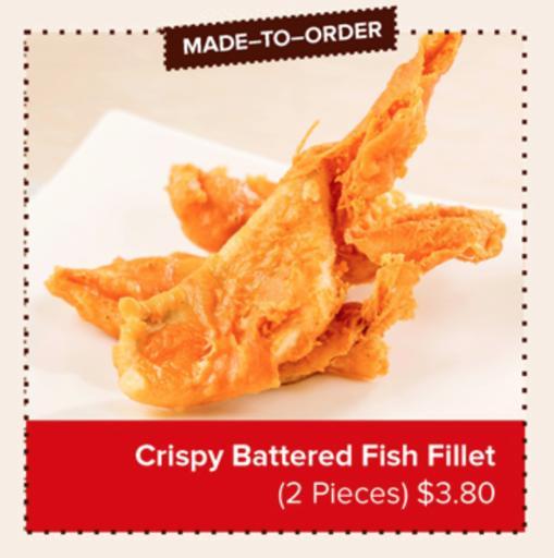 Crispy Battered Fish Fillet (2 pcs)