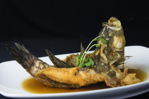 Crispy Fish Drizzled with Special Soya Sauce