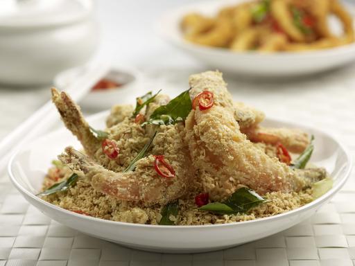 Crispy Oatmeal Prawns (麦片酥虾)