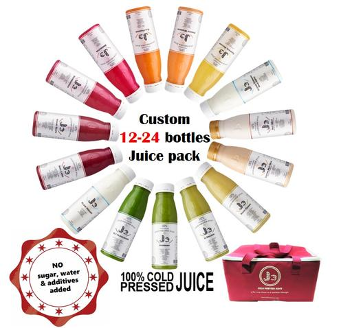 Custom 12-24 Bottles Juice Pack
