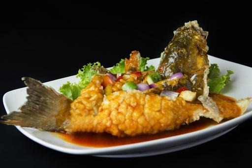 Deep Fried Fish with Sweet & Sour Sauce 西湖炸鱼