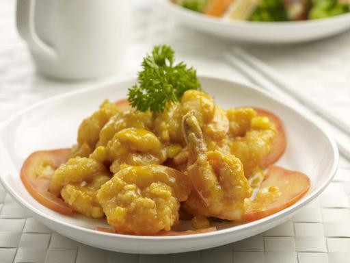 Deep Fried Mayonnaise Prawns (奶皇虾球)