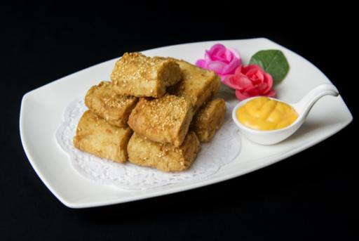 Deep-Fried Stuffed Dough with Cuttlefish Paste