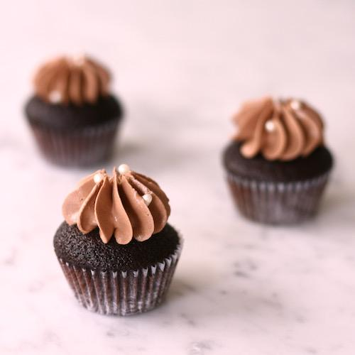 Double Chocolate Mini Cupcakes