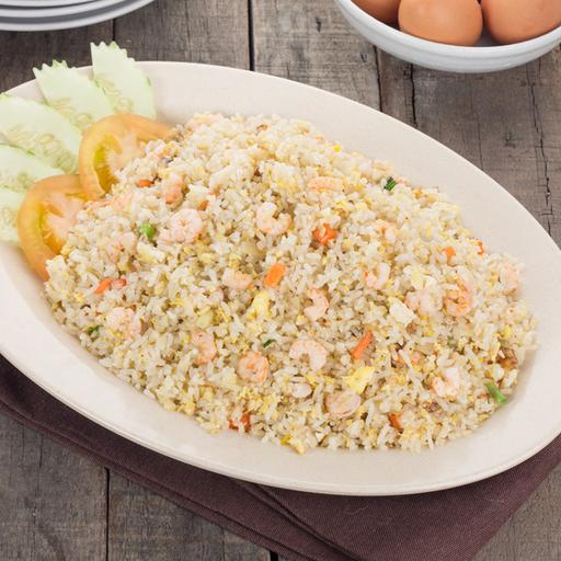 Egg Fried Rice with Prawn
