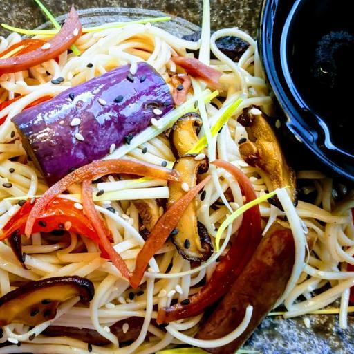 Eggplant Soba Salad