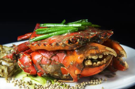 Exquisite White Pepper Crab