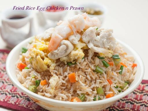 Fried Rice (Mixed - Egg, Chicken & Prawn)